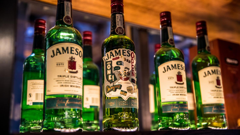 2020 omejena edicija Jameson steklenice za dan svetega Patrika